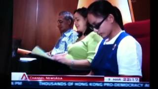 CNA news report on Visual stress (Meares Irlen Syndrome) in Singapore