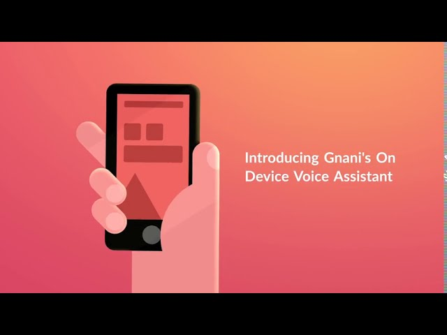 Gnani.ai's On Device Voice Assistant