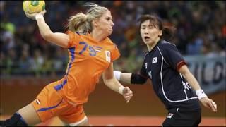Handbalvrouwen video van Nederlandse handbaldames, video of dutch handball girls