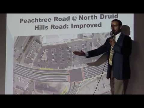 Peachtree Road/North Druid Hills intersection proposed improvements