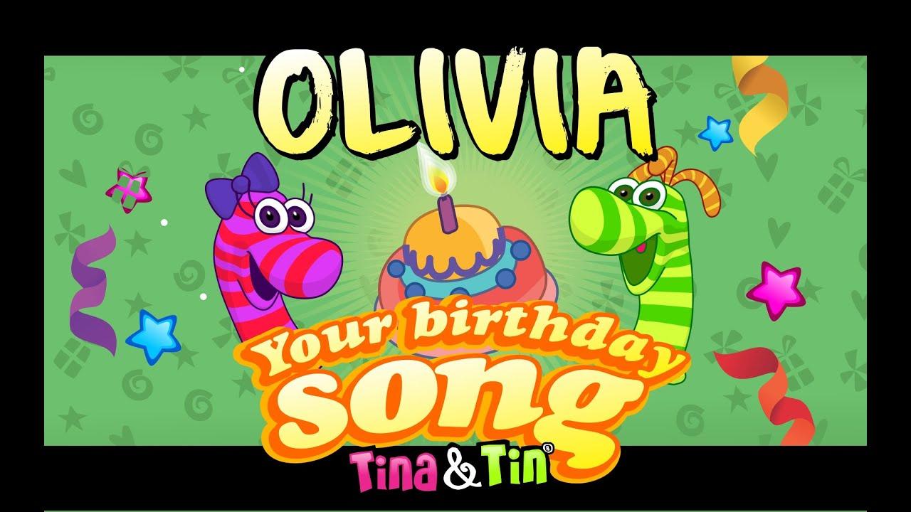 Tina Tin Happy Birthday Olivia Personalized Songs For Kids