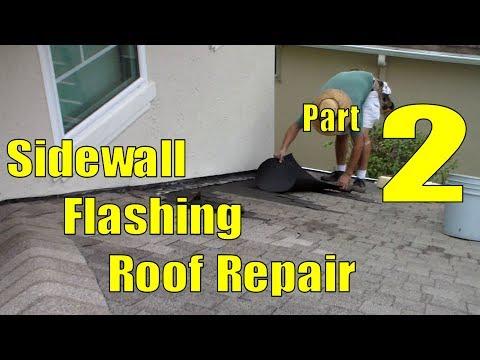 Asphalt Shingle Sidewall Flashing Repair   2 of 3 Cleaning Roof Repair
