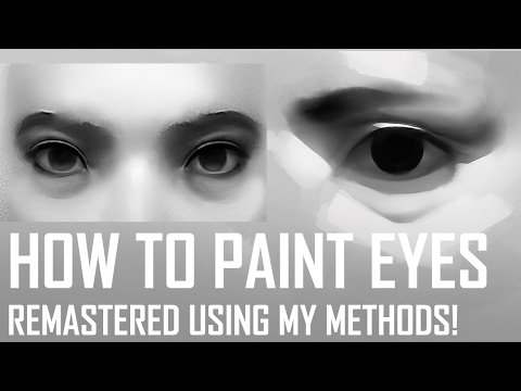 Critique Hour - How to Paint Eyes! Remastered using my methods!
