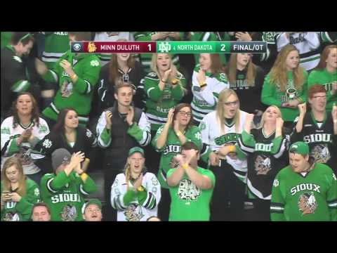 UND hockey - Austin Poganski OT penalty shot game winner - 2/19/16