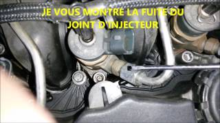 TUTO CHANGER JOINT INJECTEUR ex 1,6 HDI