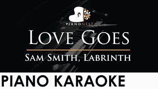 Sam Smith, Labrinth - Love Goes - Piano Karaoke Instrumental Cover with Lyrics