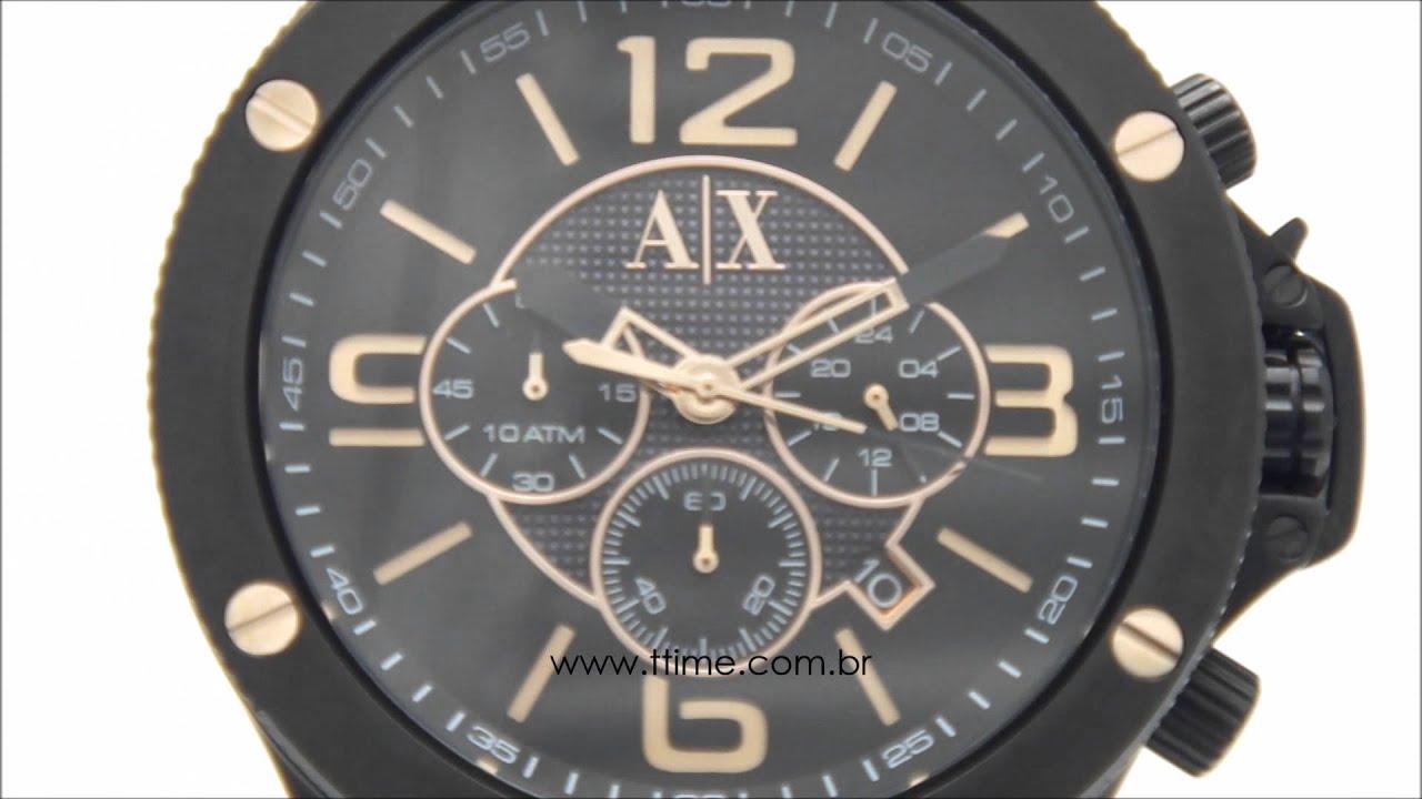 58c481aa67c23 Relógio Armani Exchange AX1513 1PN. - YouTube