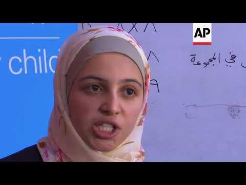 Young ambassador visits refugee children