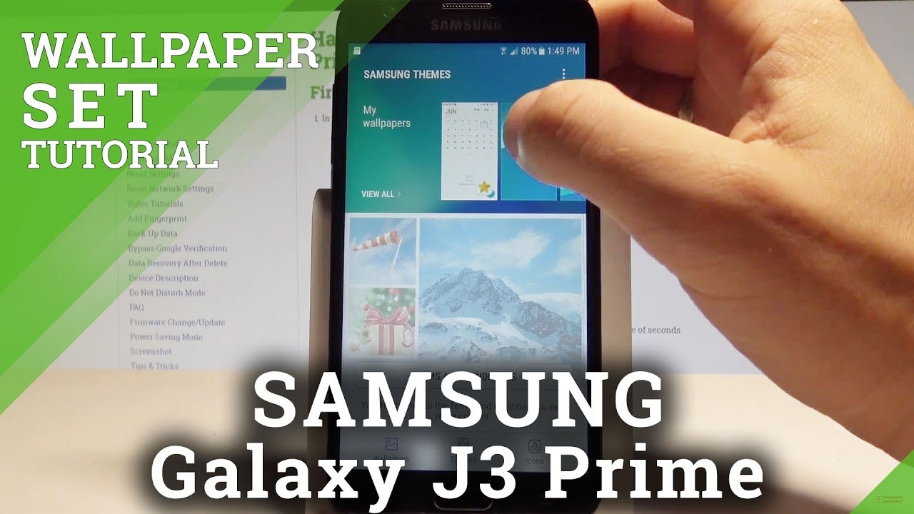 How to Change Wallpaper on SAMSUNG Galaxy J3 Prime - Wallpaper Settings |HardReset.Info