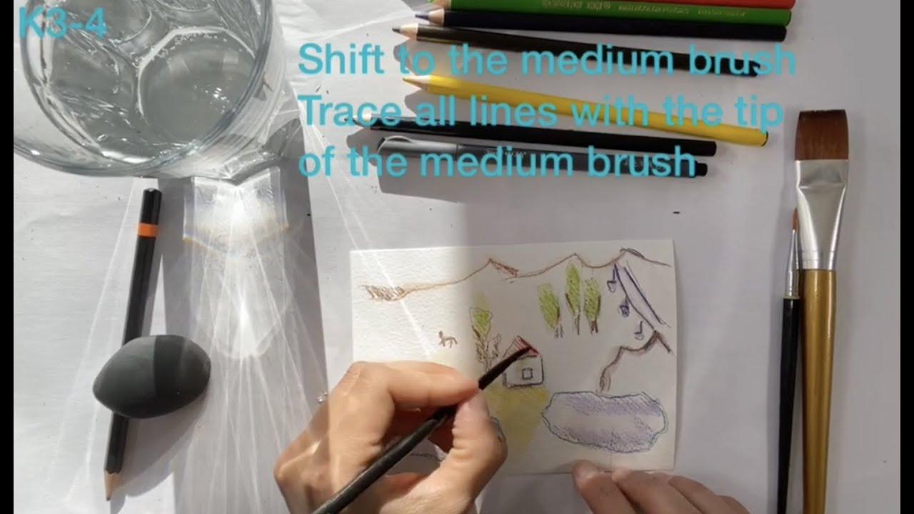 Watercolor basics. Magic Map. Beginners K3-K4