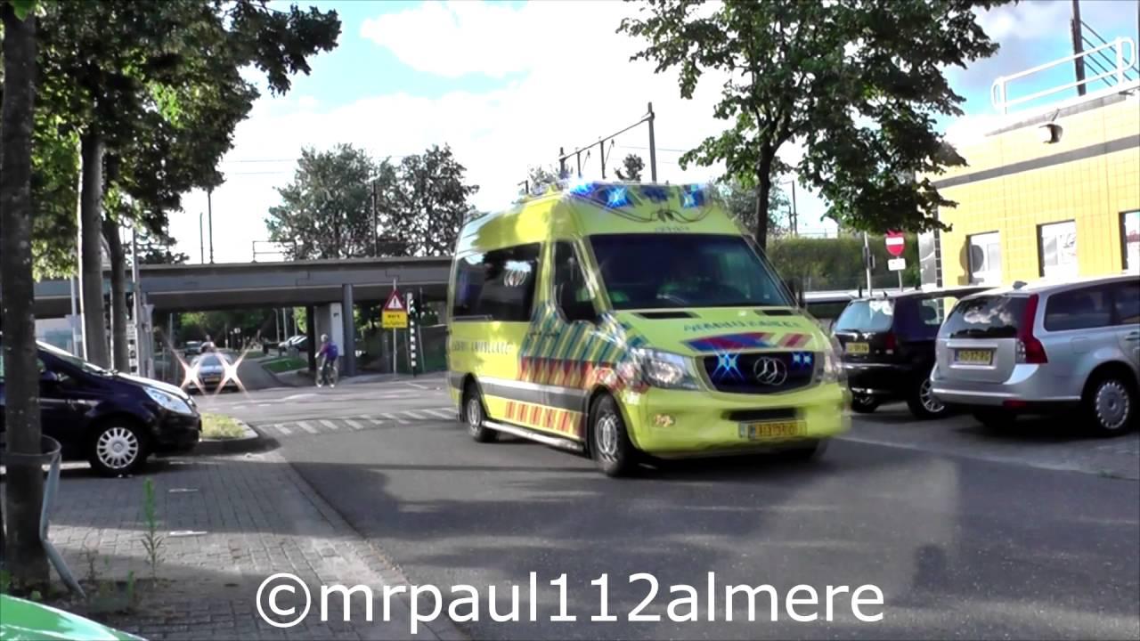 Kort 2x Ambulance Met Spoed Onderweg In Flevoland Youtube