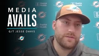Jesse Davis Discusses the End of Minicamp   Miami Dolphins Media Avails