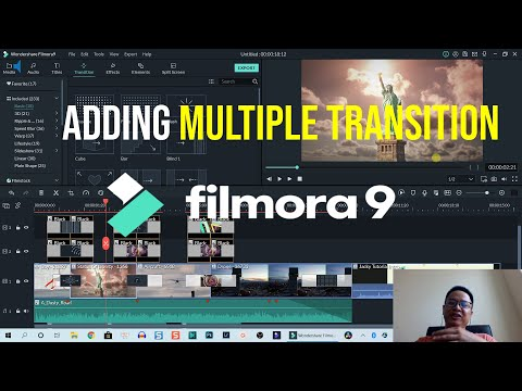 Adding Multiple Transition Effect Between Clips Using Filmora9