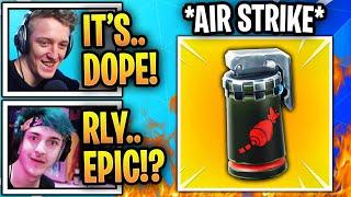 "Streamers React to *NEW* ""Air Strike Grenade"" In Fortnite!"