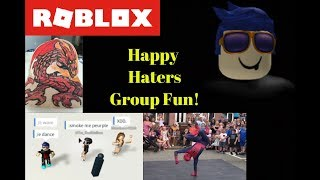 Roblox Happy Haters Group Fun | Roblox Game Show & Dance Off |