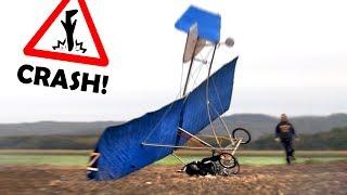 BRUCHLANDUNG mit unserem Fahrrad-Flugzeug! | Unser Fahrrad lernt FLIEGEN! #3