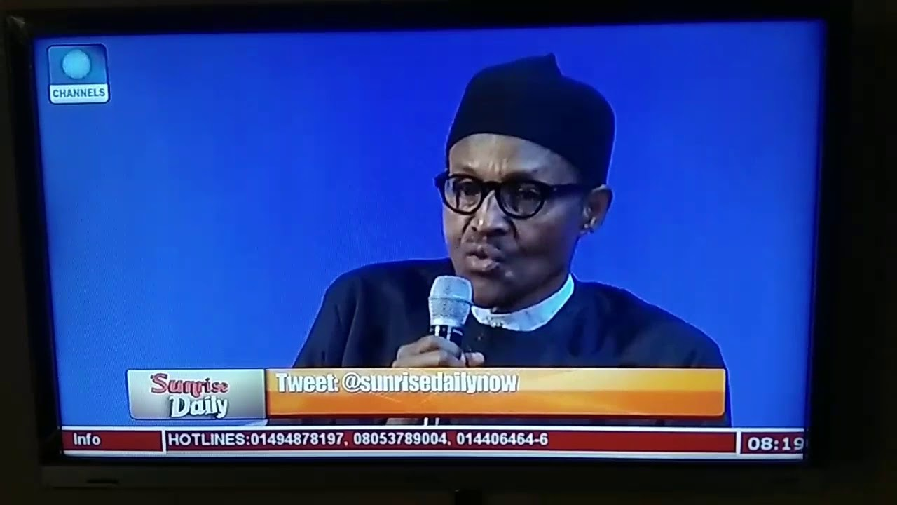 Image result for president buhari calls youth lazy