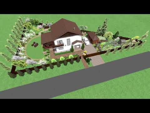 Ландшафтный проект треугольного участка 10 соток