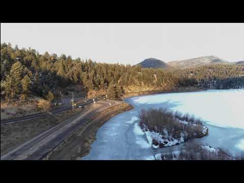 Evergreen Lake spring thaw