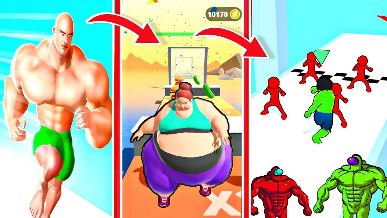 Rich Run 3, Fat 2 Fit, SuperHero Transform, Muscle Rush Gameplay | 3d Games