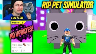 *SAD* SAYING GOODBYE TO PET SIMULATOR FOREVER... (Roblox)