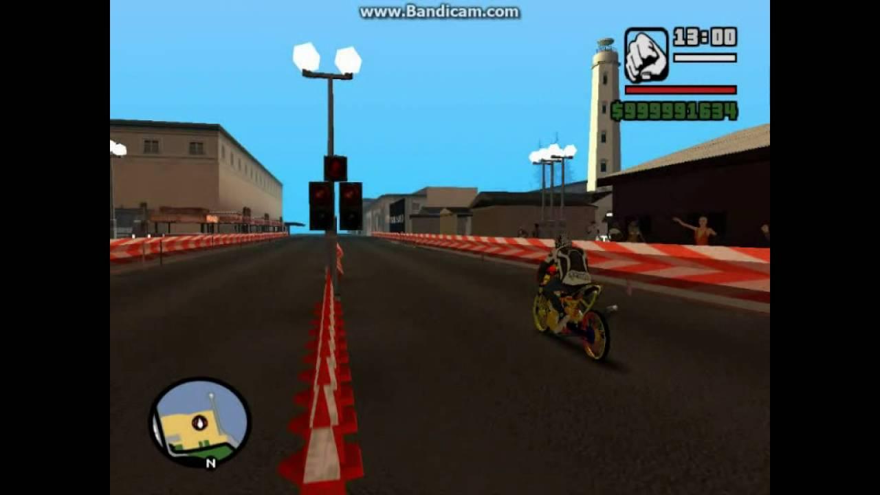 Drag Bike Satria Fu Vs Satria Fu  Cc Tembus  Detik Gta San Andreas