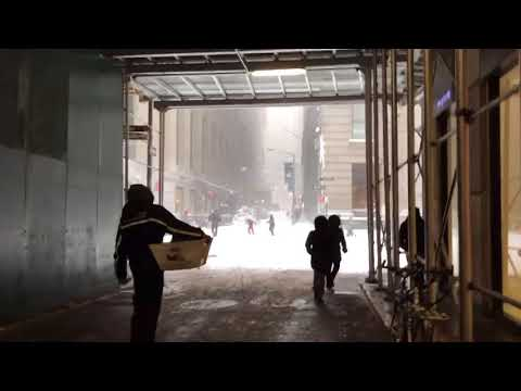 Snowstorm hits New York City – the scenes in Lower Manhattan, Part 2