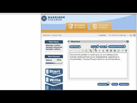 Resume Wizard, how to create a resume from scratch part 1.mp4 - YouTube