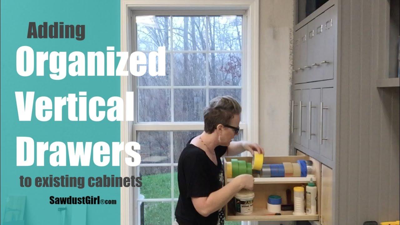 Organized Vertical Drawers - Workshop Storage - YouTube