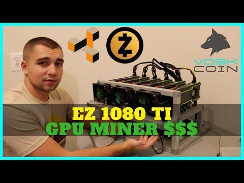 How to Easily Build a 6x 1080 TI Mining Rig 4400 sols ZEC ZenCash