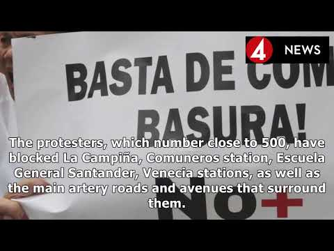 COLOMBIA EXPRESS |Bogota paralyzed in the context of demonstrations of public transport