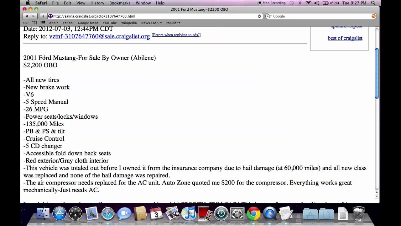 Craigslist salina kansas used cars cheap online options for buyers in 2012 youtube