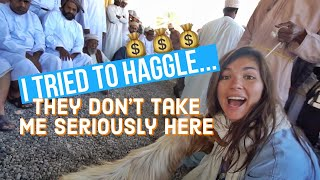 FOREIGN GIRL BUYING A GOAT IN OMAN | NIZWA GOAT AUCTION