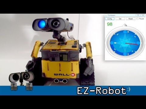 Sure Dual Axis Compass Module in Wall-e