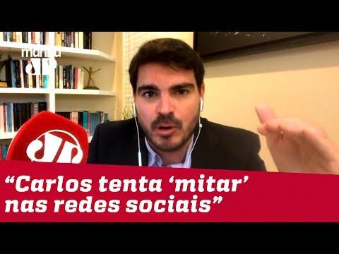 Constantino: Carlos tenta 'mitar' nas redes e mostra pouco apreço pela democracia