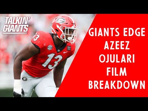 Giants Edge Azeez Ojulari Film Breakdown (Georgia 2nd Round)