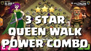 QUEEN WALK POWER COMBO - Clash of Clans - 6 REPLAYS -Mister Clash