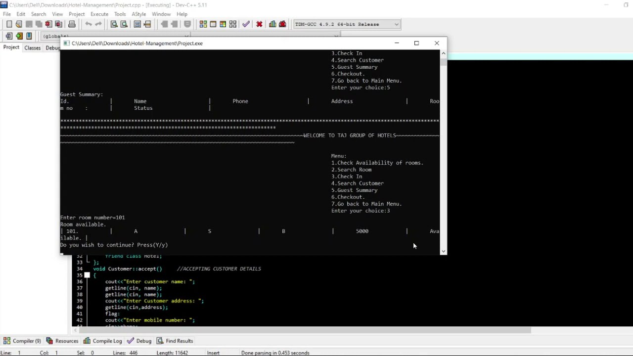 Hotel Management In C++ With Source Code | Source Code & Projects
