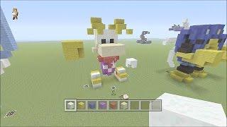 MineCraft 3D Pixel Art Tutorial - Rayman Model