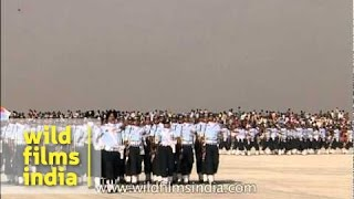 Grand march past by Indian Air Force - Air Force Day