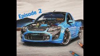 Ford Falcon FVP F6 Ute | EPISODE 2| Australia | Car Drawing