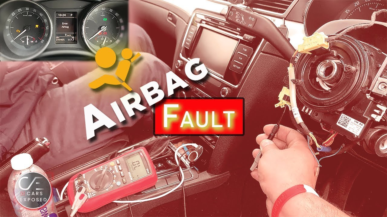 Skoda Superb VAG-Airbag light on Fault code 00588 | Decade box in action