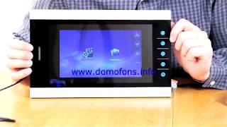 подключение и просмотр меню видеодомофона «HDcom S-108»
