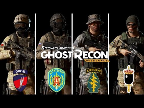 Ghost Recon Wildlands Special Forces Outfits: JW GROM, Green Beret, SOG, Alpha Group