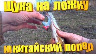 рыбалка щука воблер Щука на блесну из ложки и китайский попер Фирменными воблерами брезговала