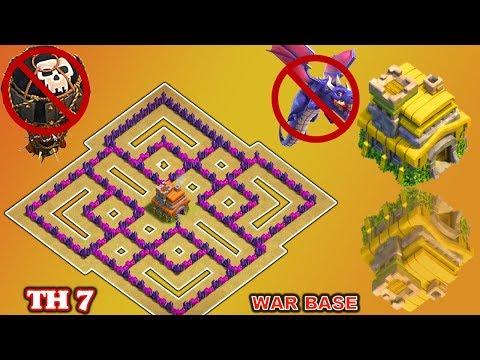 Clash of Clans(CoC) | Best Town hall 7 War Base 2018 | TH7 Anti dragon,Anti Hog,Anti 3 star War Base