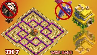 Clash of Clans(CoC) | Best Town hall 7 War Base 2018 | TH7 Anti dragon,Anti Hog,Anti 3 star War Base