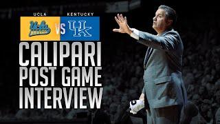 Kentucky Wildcats TV: Coach Calipari - UCLA Postgame
