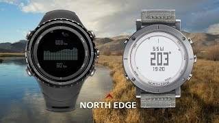 north edge watch with gps altimeter compass barometer heart rate monitor for running mountaineering
