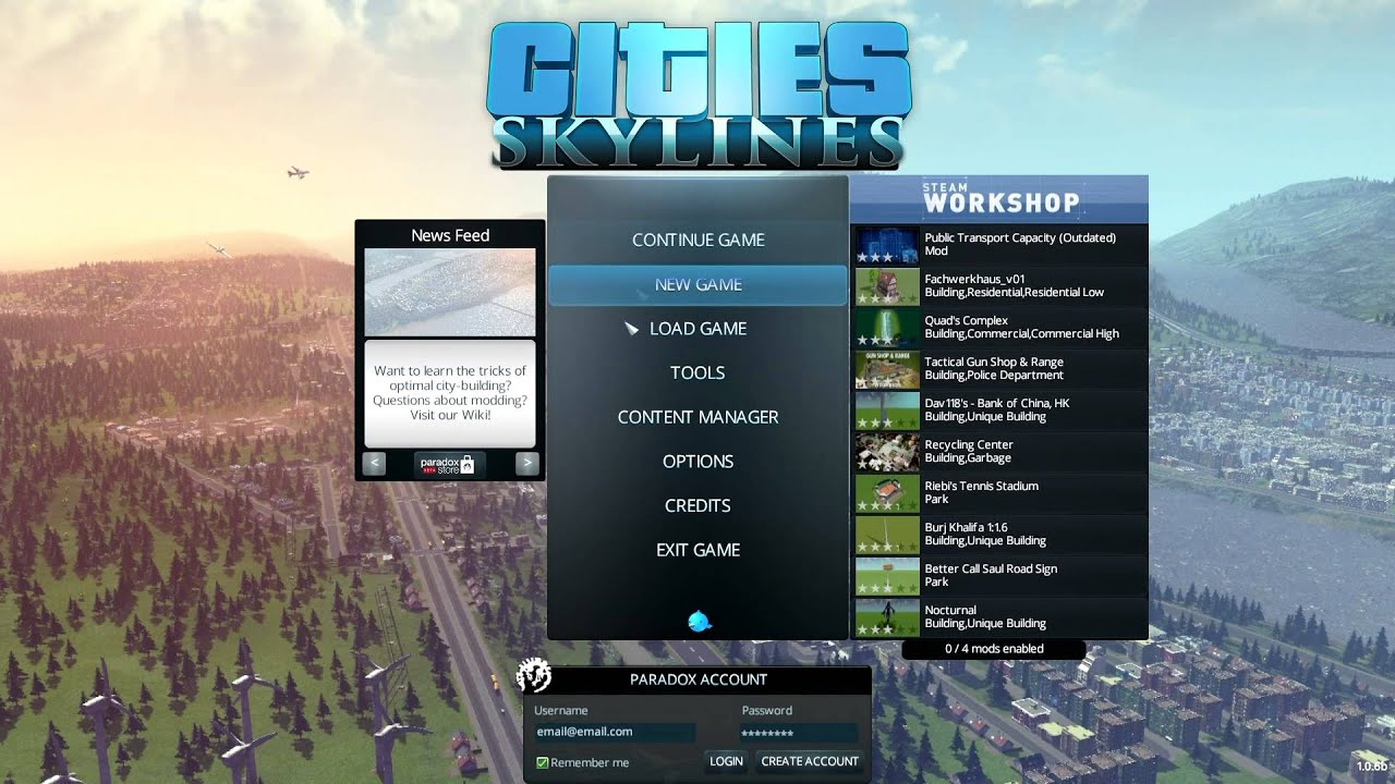 Cities Skylines How to enable unlimited money and unlock all buildings